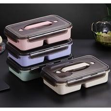 健康環保小麥秸稈新款雙格微波餐盒 便當盒(可微波)