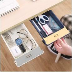 桌下隱藏式抽屜整理盒 可收納辦公桌化妝桌下雜物