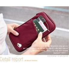 韓系旅行隨身手拿證件收納袋