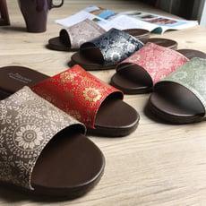 台灣製造-舒適耐穿-經典系列-皮質室內拖鞋-光年