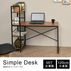 MIT工業風雙向層架書桌 工作桌 電腦桌 學生桌 桌子 辦公桌 TA065