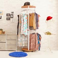 日系玄關臥室收納衣帽架/玄關架/衣架 CL015