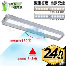 USB充電版【暖黃光】人體感應燈 LED感應燈 智慧型雙感應芯片
