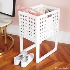 可折式收納籃 衣籃 髒衣籃 置物籃 塑膠籃 浴室收納 玩具收納 折疊籃 SD|宅貨