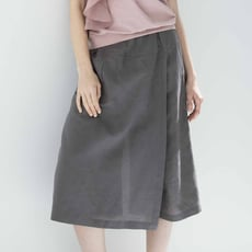 【HEDY赫蒂】棉.麻褲裙(卡其.芋咖)(M/L)