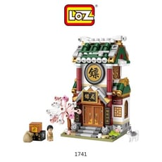 LOZ mini 鑽石積木-1741-1744 古風商店街系列