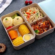 便當盒 健身餐分格隔輕食雙層日式簡約上班族便當飯盒套裝微波爐