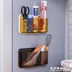 磁鐵冰箱置物架壁掛廚房置物架收納盒側掛架保鮮膜架廚房收納架