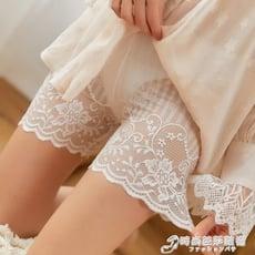 無痕內褲女性感防走光安全褲可外穿薄款黑白色女士中高腰膚色蕾絲