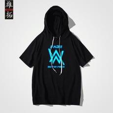 AlanWalker電音同款衣服艾倫沃克faded連帽短袖DJ教主帽T男夏tee