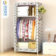 簡易組裝衣櫃 布單人小衣櫥宿舍掛經濟型組裝鋼管收納櫃全鋼架