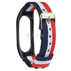 小米手環2 二代 時尚帆布條紋風 個性 替換腕帶 錶帶 雙11