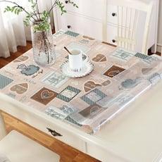 桌布 彩色pvc餐桌佈防水軟質玻璃塑膠臺布桌墊免洗茶幾墊透明磨砂