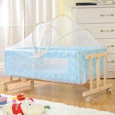 獨立工字搖籃輕便攜式嬰兒床實木新生兒小床寶寶床炕上搖搖床搖簍