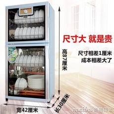 餐具消毒碗櫃家用商用立式雙門高溫櫃式不銹鋼迷你小型大容量台式igo
