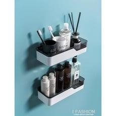 衛生間置物架浴室壁掛式免打孔廁所洗手間洗漱臺用品用具收納架子  單層