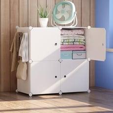 收納箱整理箱簡易組合塑膠收納盒衣服玩具衣櫃儲物櫃