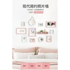 兒童房定制照片墻女孩裝飾相框墻掛墻寶寶房間墻上免打孔組合畫