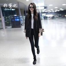 西裝外套 彩黛妃春夏新款韓版修身顯瘦長袖小西裝外套休閒時尚西服女