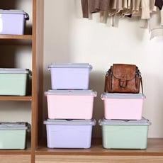收納箱塑料特大號衣服儲蓄儲物箱玩具整理箱有蓋收納盒三件套