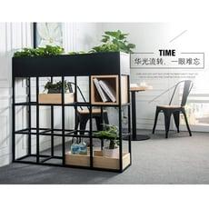 隔斷牆鐵藝實木置物架簡約餐廳隔斷卡座咖啡廳屏風書架花架展示架儲物櫃