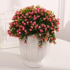 仿真假花草擺件客廳家居茶幾擺設塑膠花幹花束植物小盆栽套裝飾品