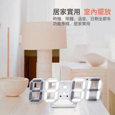 Kamera KA-9160 LED立體電子鐘-白框白光  3D立體電子時鐘 LED數字時鐘 鬧鐘