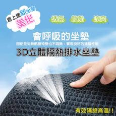 3D立體蜂巢機車隔熱排水座墊(透氣散熱機車坐墊)