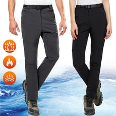 戶外頂級禦寒刷絨男女保暖衝鋒褲