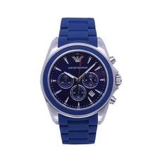 ARMANI 爵士舞步計時優質個性腕錶-藍-AR6068