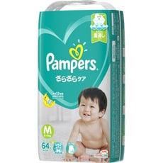 PAMPERS全新幫寶適巧虎紙尿布(黏)M64片(每箱/4包)(全日文包裝)