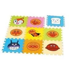 日本進口正版 Anpanman 麵包超人 地墊 軟墊 遊戲墊 巧拼 九片裝