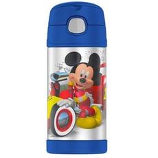 美國 THERMOS 膳魔師 不銹鋼保溫瓶 吸管水壺 兒童水杯 新款提把-米奇