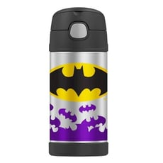 美國 THERMOS 膳魔師 不銹鋼保溫瓶 吸管水壺 兒童水杯 新款提把-蝙蝠俠