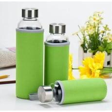 耐熱玻璃水瓶 水壺 杯子 隨身瓶 贈手提隔熱杯套