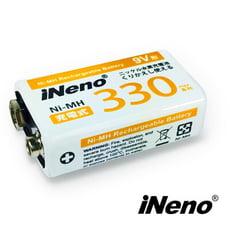 iNeno 9V 330max 鎳氫充電電池 (1入)