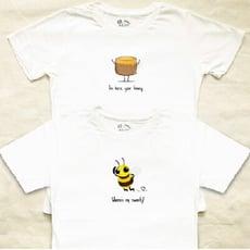 情侶裝【尋覓我的哈尼】 純棉T-shirt 插畫家手繪款