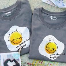 情侶裝【早安早安】 純棉T-shirt 插畫家手繪款