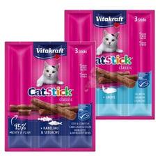 【德國 Vitakraft】貓零食 貓快餐 貓零食/貓點心/貓肉條/鮭魚/Vita肉條 一包3入