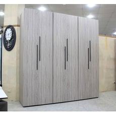 【歐風別館】威廉7.5*8尺灰橡色加高衣櫃【棉被櫃~系統櫃~多色~工業風~基隆至台中免運費】