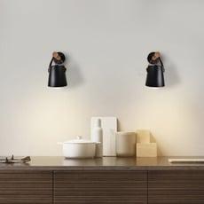 18PARK-提概念壁燈 [木/鐵,黑色]
