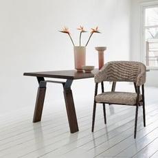18PARK-溫視角餐椅 [布/金屬,深灰]