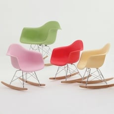18PARK-RAR椅-兒童版 [塑膠/金屬/木質,粉膚色]
