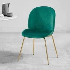 18PARK-愛麗絲餐椅 [坐墊-高級絨布+高密度泡棉 /椅腳-防鏽鐵管烤漆,粉色]
