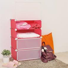 【ikloo】輕巧多變四層防塵收納櫃/鞋櫃