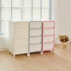 【ikloo】韓系馬卡龍四層整理箱/收納箱
