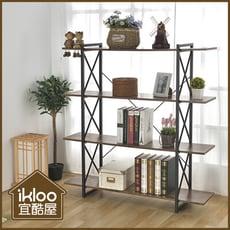 【ikloo】工業風復古四層收納櫃/置物櫃