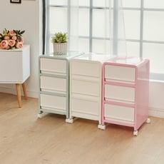 【ikloo】粉漾韓系三層整理箱/收納箱