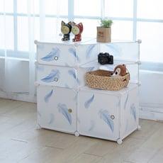 【ikloo】清爽柔和系多用途收納櫃