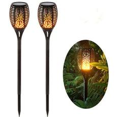 33顆LED 太陽能充電 太陽能造景燈 太陽能景觀燈 太陽能草皮燈 太陽能火把燈 太陽能火焰燈